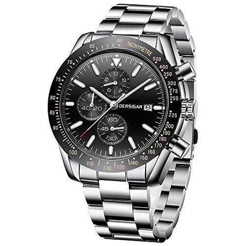 BERSIGAR Die Mode-beiläufige Uhr der -Männer, analoge Quarzuhr-Mann-Geschäfts-Chronograph-Armbanduhr der Männer