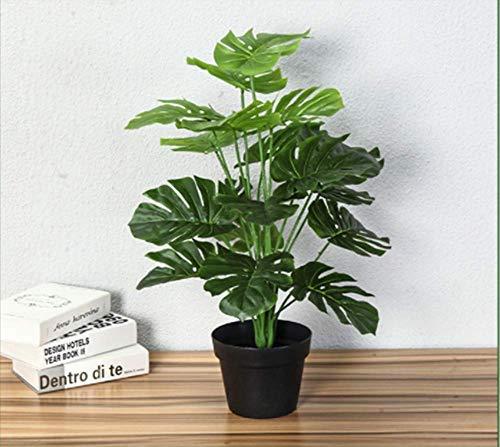 Plantas 70 CM verdaderas Artificiales táctil Monstera Árbol Falsas Árbol Tropical Plants Home Garden Decor Sin Pot