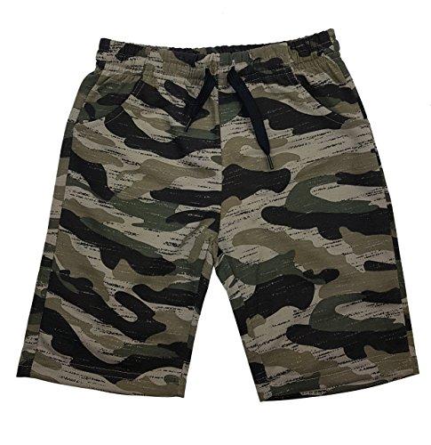 Fashion Boy Jungen Army Bermuda Tarn Shorts in Braun Camouflage, Gr. 122, Jn6119.8