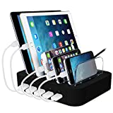 ACTOPP USB Ladestation Multiport USB Universal Dockingstation Ladegerät Ladedock 5 Ports USB...