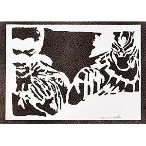 Black Panther Poster The Avengers Plakat Handmade Graffiti Street Art – Artwork