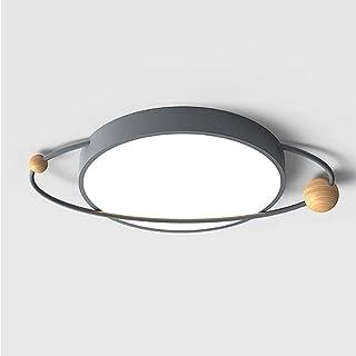 WZHZJ Plafonnier LED Dimmable Planet Plafonniers montés en Surface pour Chambre à Coucher Creative LED Chambre lumière Cha...