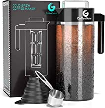 Coffee Gator Cold Brew Kit - Brewer with Scoop and Loading Funnel - 47oz (47 floz, Black)