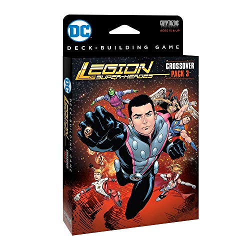 Cryptozoic CZE01922 - Brettspiele, DC Comics, Crossover, Legion of Super-Heroes, Pack 3