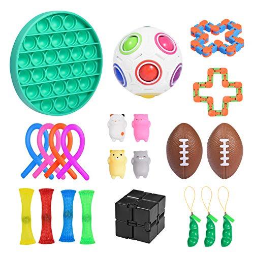 ZDSKSH Juguetes Sensoriales antiestres 22Pcs, Juguetes Autismo Fidget para niños y Adultos...