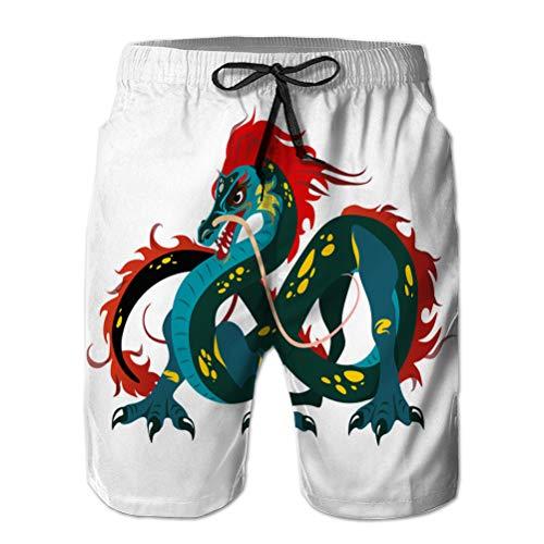 Holefg3b Pantalones Cortos de Playa para Hombre, bañador de