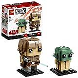 LEGO Brickheadz - Luke Skywalker y Yoda, Juguete de Figuras Coleccionables para...