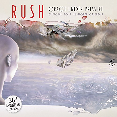 Rush 2019 12 x 12 Inch Monthly Square Wall Calendar, Music Progressive Rock Band