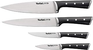 Tefal Ice Force Set de 4 Couteaux, Couteau à découper 9cm, Couteau chef 20cm, Couteau d'Office 11cm, Couteau à Emincer 20c...
