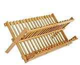 mogist–Escurreplatos 16rejilla Madera Plate Rack Bamboo Dish drying Rack...