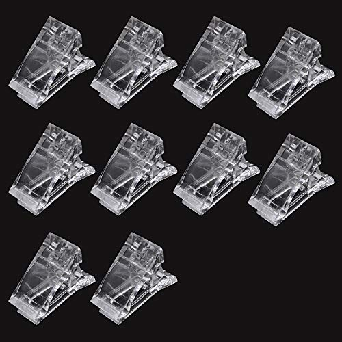 10 pz unghie unghie clip clip trasparente Polygel Quick Building Finger Nail Extension UV LED Builder Morsetti Manicure Nail Art Tool