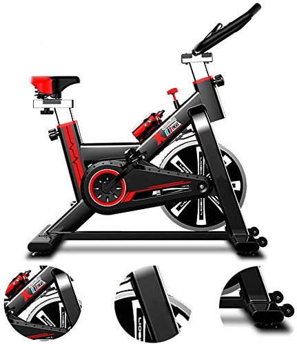 WuoooLi Bicicleta de Spinning, Asiento Ajustable,con Pantalla LCD,Equipo de Entrenamiento de Entrenamiento Cómodo Cojín Sillín Unisex,para Gimnasio de Oficina en Casa … (A) EEUK