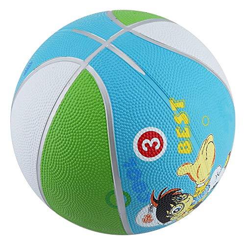 Alomejor Mini Kinder Basketball Mini Hoop 7-Zoll Gummibasketball für Kinder