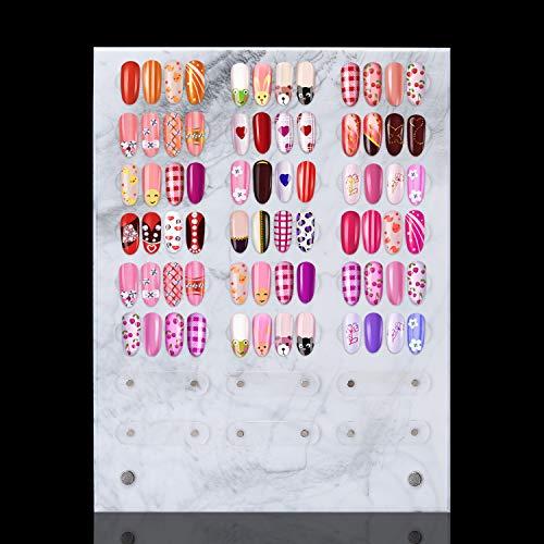 Noverlife tabellone magnetico per nail art con motivo in marmo, 24x30cm/9.5x11.8'', espositore per campioni di unghie rimovibile per salone per unghie, espositore per unghie, espositore per manicure