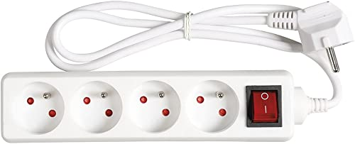 Expert Line 486801 Bloc 4 prises + Interrupteur