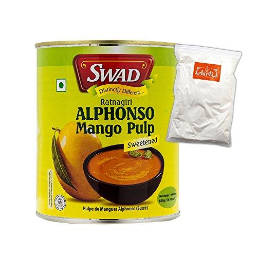 SWAD アルフォンソ マンゴーピューレ セット 850g 1缶とココナッツミルク100g 神戸アールティー Mango Pure