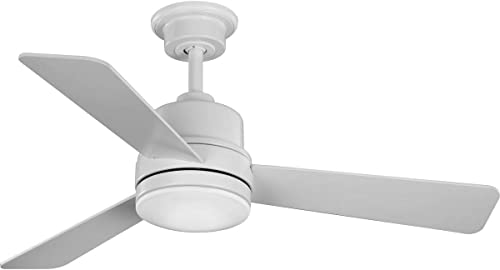 """2021 Trevina II new arrival Collection discount 44"""" Three-Blade Satin White Ceiling Fan sale"""