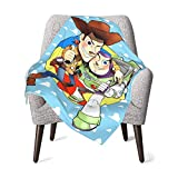 BEEPBOOP Toy Story Buzz Lightyear Woody Baby Blanket Newborn Gifts Newborn Boys Girls Blanket Plush Blanket Couch Sofa Bed Toddler Receiving Blankets 30 X 40in