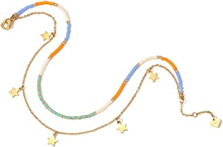 CXQ Fashion Simple Personality Colorful Stars Double Female Sexy Anklet