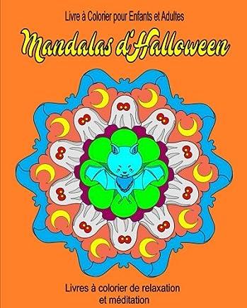 Livre A Colorier Pour Enfants Et Adultes Mandala D Halloween