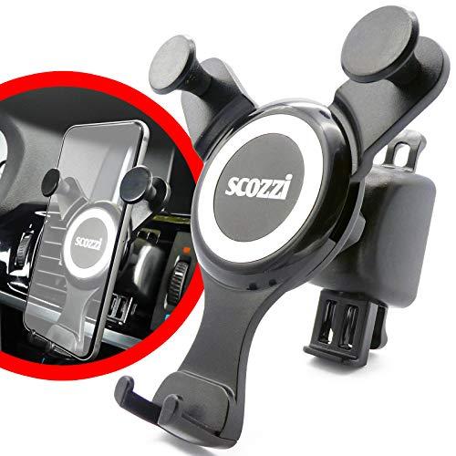 scozzi Handyhalterung Auto Lüftung Schwerkraft Handy KFZ Halterung Halter universal (kompatibel mit Samsung, iPhone) S21 S20 S10 S9 A71 A70 A51 A50 A40 M51 M40 12 11 X XS XR 8 Plus Mini Ultra Max Pro