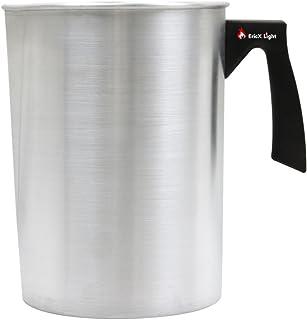 EricX - Olla para hacer velas de 4 libras, boquilla de vertido sin goteo y mango resistente al calor, olla para derretir cera, jarra para fabricación de velas de aluminio