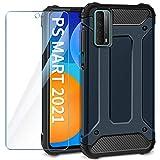 AROYI Coque Compatible avec Huawei P Smart 2021 avec Verre Trempé Écran Protecteur, TPU Robuste en...
