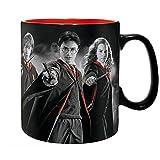 Harry Potter - Keramik Tasse - Harry Hermine Ron - Gryffindor - Wappen Logo- Geschenkbox