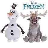 Offizielle Disney Gefrorene 20cm Olaf Der Schneemann & 19cm Sven The Reindeer weiche Plüsch-Spielzeug