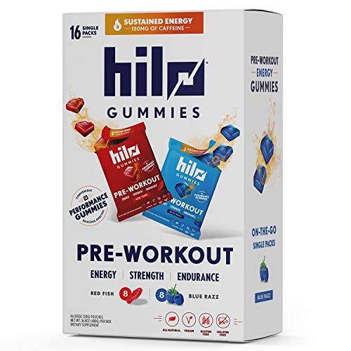 Hilo Pre-Workout Gummies Dietary Supplement Variety Pack 16/1.05 Oz Net Wt 16.8 Oz