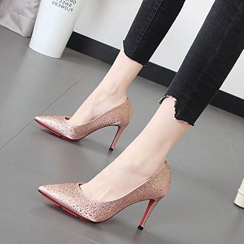 Xue Qiqi high-heel Schuhe Frauen Rosa Hochzeit Schuhe licht Düsenspitze mit einem feinen Nacht Einzel schuhe Tide