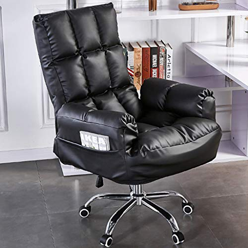 HQBL Ideal Gaming/Racing/Office Chair-PU Leather High Back Adjustable Ergonomic Swivel Computer Desk Recliner,Foldable Lazy Sofa with Arms,Home Best Choice Products