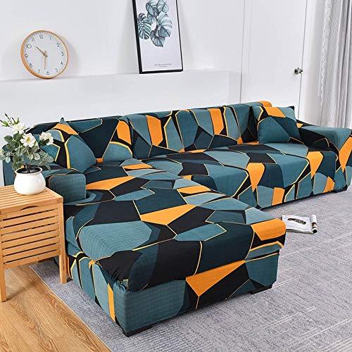 WXQY Funda de sofá de Esquina para Sala de Estar Funda Ajustada Funda de sofá elástica Funda de sofá elástica Funda de sofá a Prueba de Polvo Completa Toalla de sofá A14 2 plazas