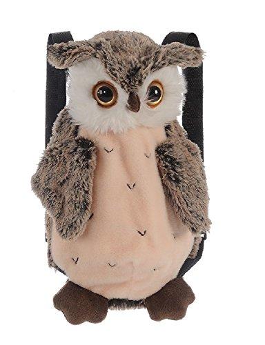 Bavaria Home Style Collection Rucksack Plüsch - Kinderrucksack - Eule - Owl - ca. 35 cm - Plüschtier Kuscheltier (braun)