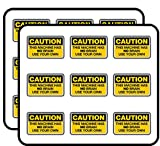 Caution This Machine Has No Brain Funny 2' 18 Pack Planner Calender Scrapbooking Crafting Stickers