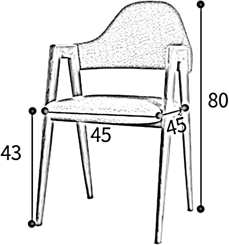 Chaise Simplicité Moderne Réseau Créatif Rouge Tabouret D'ordinateur Retour À La Maison Nordique Chaise De Salle À Manger Adulte (Couleur : Gray) Blanc Bleu