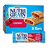 Nutri-Grain Soft Baked Breakfast Bars, Made with Real Fruit and Whole Grains, Kids Snacks, Cherry, 10.4oz Box (8 Bars)