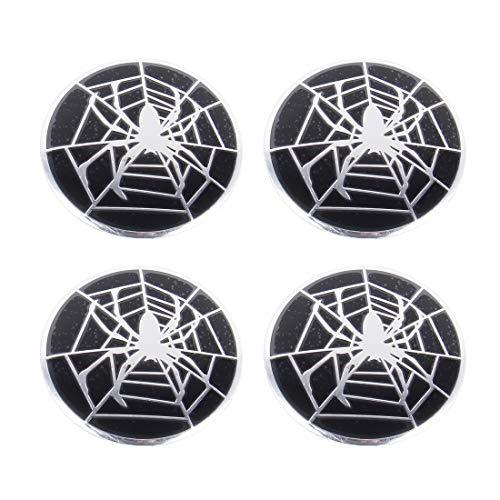 Calcomanías adhesivas corporales Fashion Spider Metal Car Coche Etiqueta engomada de la rueda Caps Caps Center Cover Decoration 4 PCS, adecuado para la mayoría de los coches