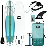 BEYOND MARINA Inflatable Paddle Boards Ultra-Light Stand Up Paddle Board 3.2M Length 81CM Width 1.5CM Thickness Surf Board Premium SUP Accessories & Carry Bag, Designed Carbon Paddle (Upgraded)