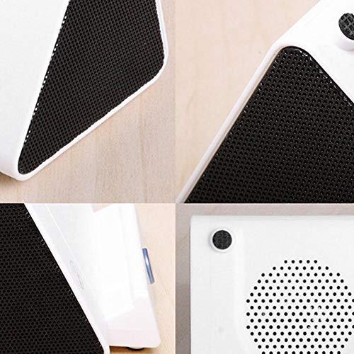 Altavoz portátil, Mini Altavoz de inducción Inteligente de Sonido estéreo, para teléfonos móviles domésticos Teléfonos Inteligentes al Aire Libre(White, Pisa Leaning Tower Type)