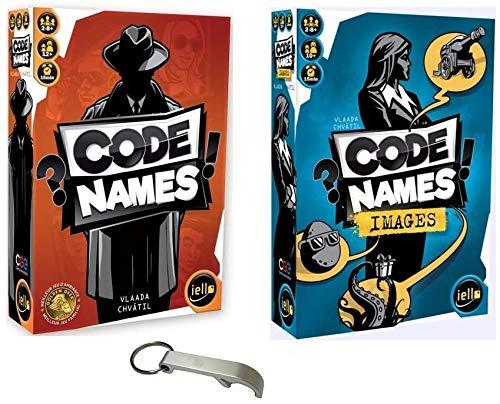 Lot 2 Jeux: Code Names + Code Names Images + 1 Décapsuleur Blumie