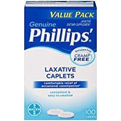 Phillips' Laxative Caplets are a convenient, easy to swallow laxative supplement that works with the body's natural process to gently relieve occasional constipation Formulated with Magnesium Oxide, Phillips' Laxative Caplets offer gradual, cramp fre...