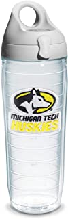 Tervis Michigan Tech Unv Emblem Clear Inner 24oz Water Bottle with Grey Wb Lid -