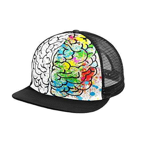 NO Brain Mind Psicología Idea Dibujo Gorra de béisbol para hombre deportes...
