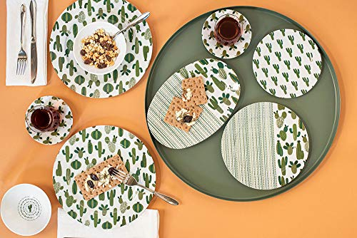 Porland Porzellan Frühstücksset 36-TLG. 6-Sitzer Kaktusmuster