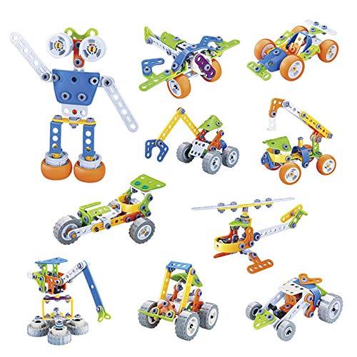 Building Block Robot Educational Building Blocks Juego De Juguetes De Ingeniero De Aprendizaje Juegos De Desarrollo De Cerebro Creativo Kits De Robots De Bricolaje Regalo Con Caja De Almacenamiento