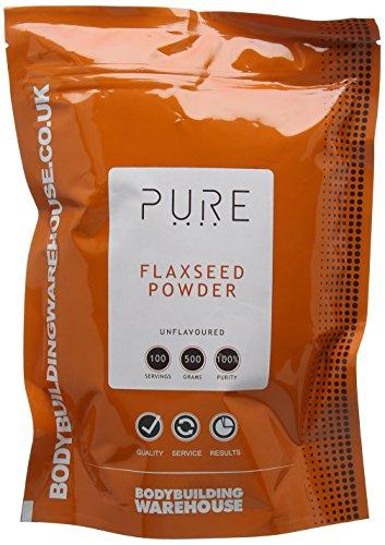 Pure Ground Flaxseed Powder - Omega 3 Vegan High Fibre - Ultra-Premium...