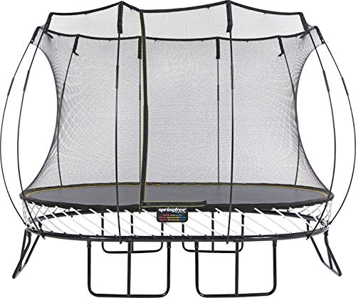 Springfree Trampoline | 8 11 13ft | Oval Round Square | Springless Trampoline with Safety Enclosure | Trampoline Only (11ft Medium Oval)