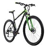 Keine Tour zu lang, kein Berg zu hoch: Das Hardtail-Mountainbike XTINCT von KS Cycling überzeugt nicht nur mit seinem hammermäßigen Design in coolem Mattgrün – auch seine Ausstattung ist ein echter Hingucker! Das Bike ist mit einer 21-Gang-Kettenscha...