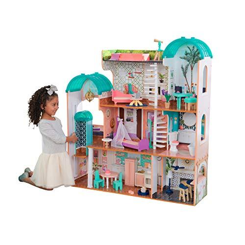 KidKraft- Casa de muñecas de madera con muebles y accesorios incluidos, apta...